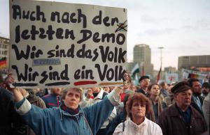 Montagsdemonstration in Leipzig 1990